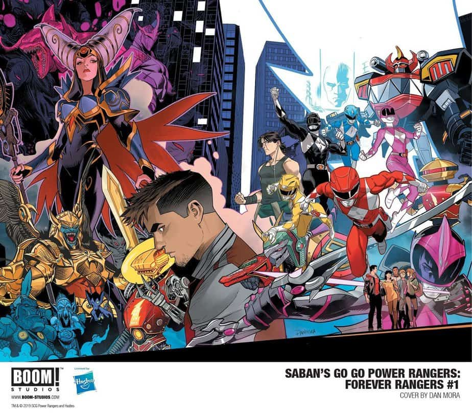 Saban's Go Go Power Rangers: Forever Rangers #1 Cover By Dan Mora