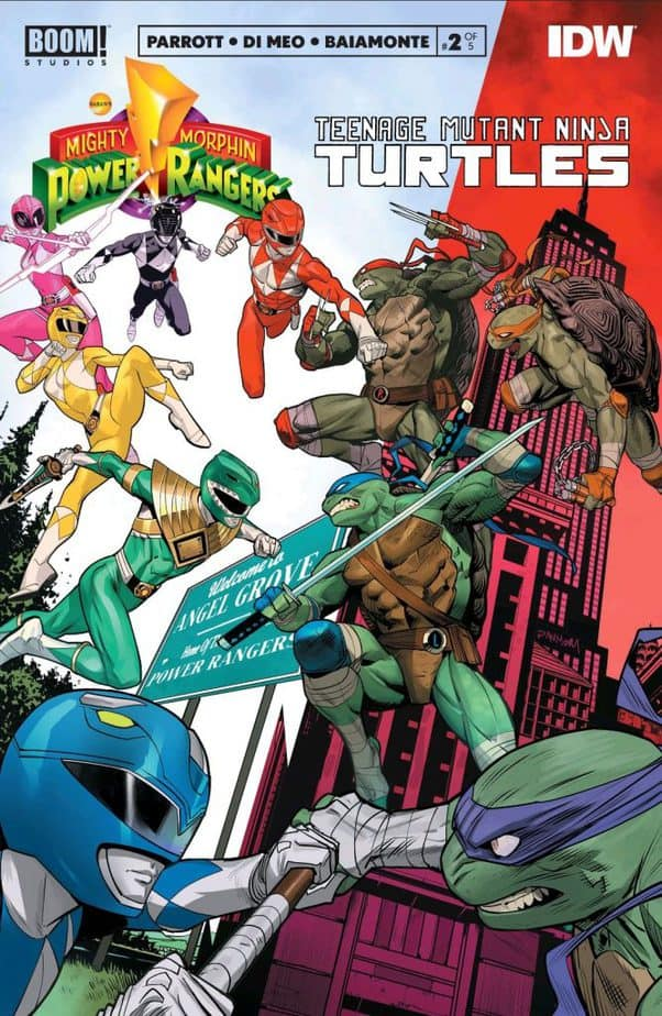 TMNT/Mighty Morphin Power Rangers #2 Cover