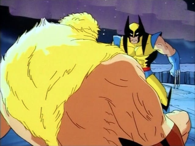Wolverine and Sabretooth in X-Men TAS episode Cold Vengeance - Image courtesy of Disney Plus