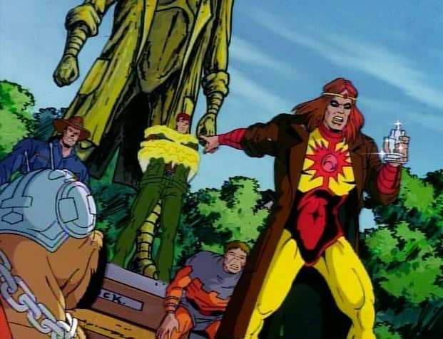 Solarr, Toad, Watchdog and Cyclops in X-Men TAS episode Secrets Not Long Buried, image courtesy of Disney Plus