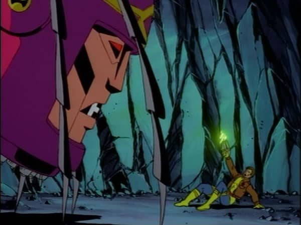 Master Mold and Morph in X-Men TAS episode Courage, image courtesy of Disney Plus