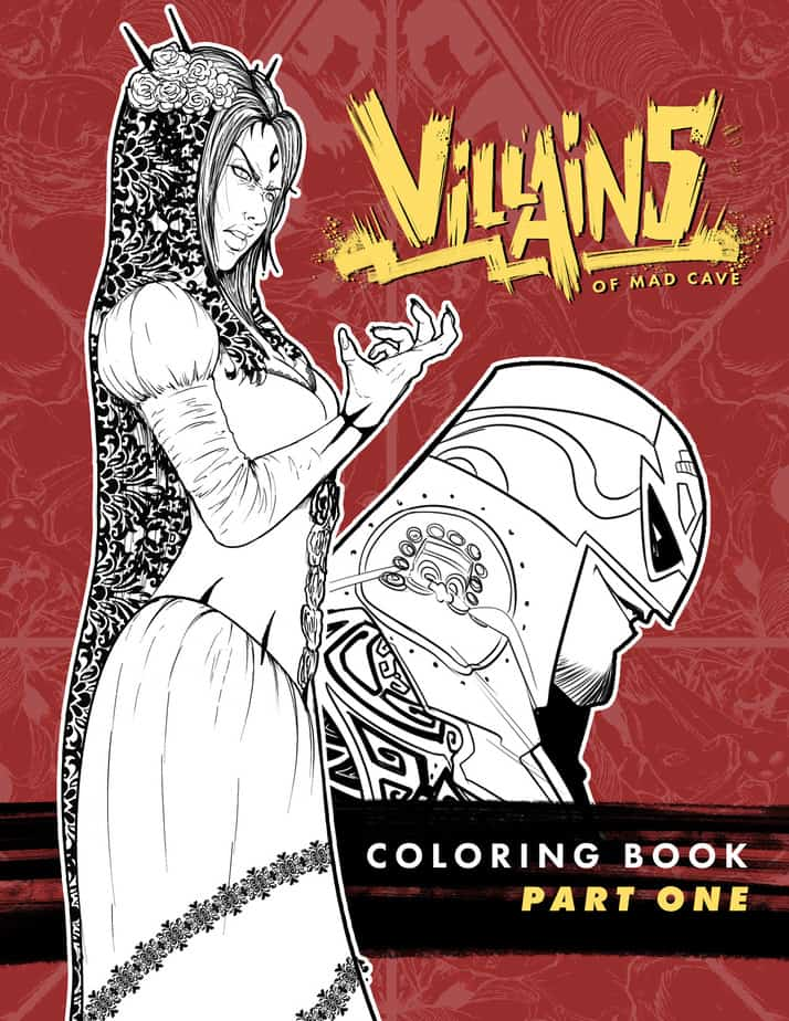 Mad Cave Studios Announce Coloring In Therapy Books 6