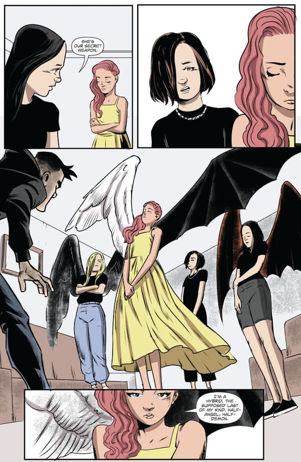 Want a Supernatural stuck in High School Comic Book? Check out Lucifer's Knight #2. 3