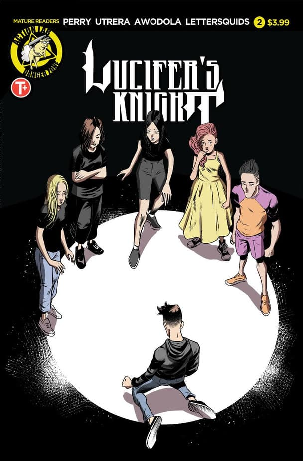 Want a Supernatural stuck in High School Comic Book? Check out Lucifer's Knight #2. 5