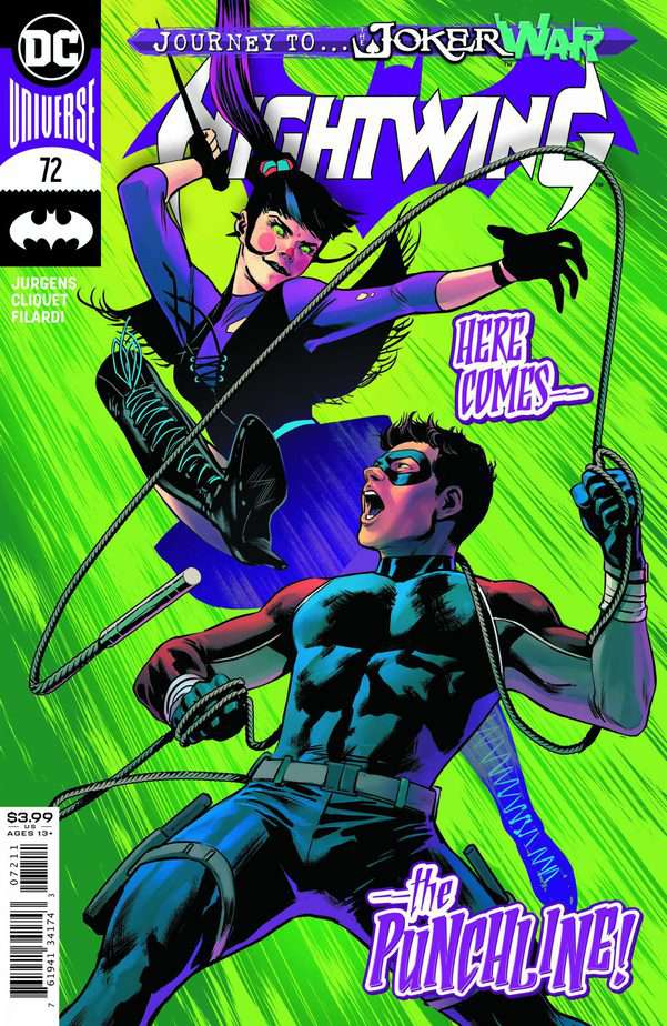 Nightwing #72 cover. Image: DC Comics