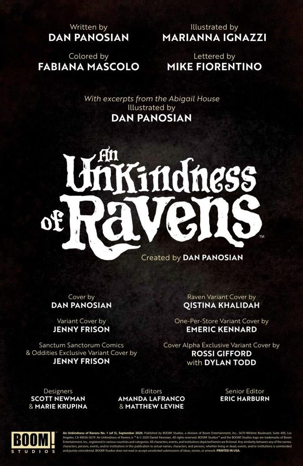 An Unkindness of Ravens #1 - Review 1