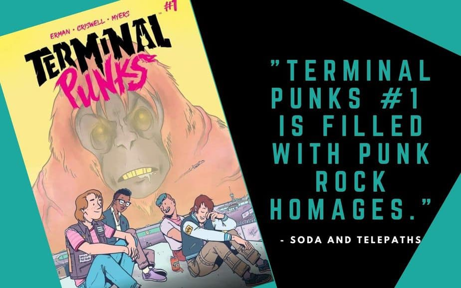 Terminal Punks #1 comic book is filled with punk rock homages