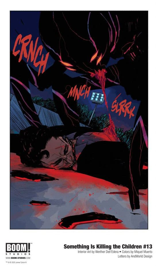 Something Is Killing The Children Issue 13 Panel with Dead Body