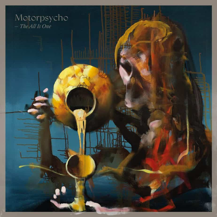 """Håkon Gullvåg's painted album cover to Motorpsycho's The All is One, the concluding record of the band's """"Gullvåg trilogy""""."""