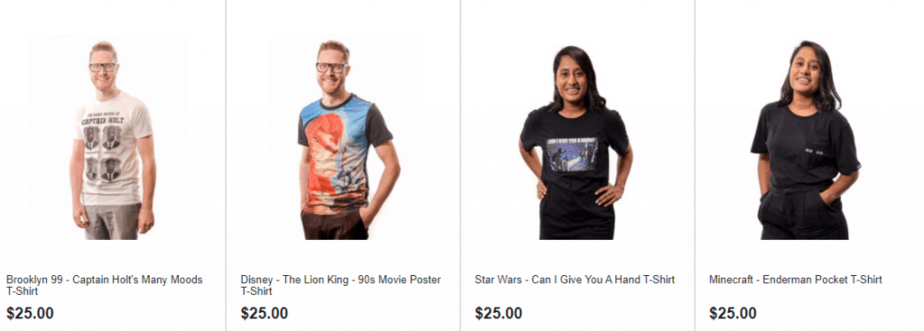 Affordable T-Shirts in Zing Pop Culture