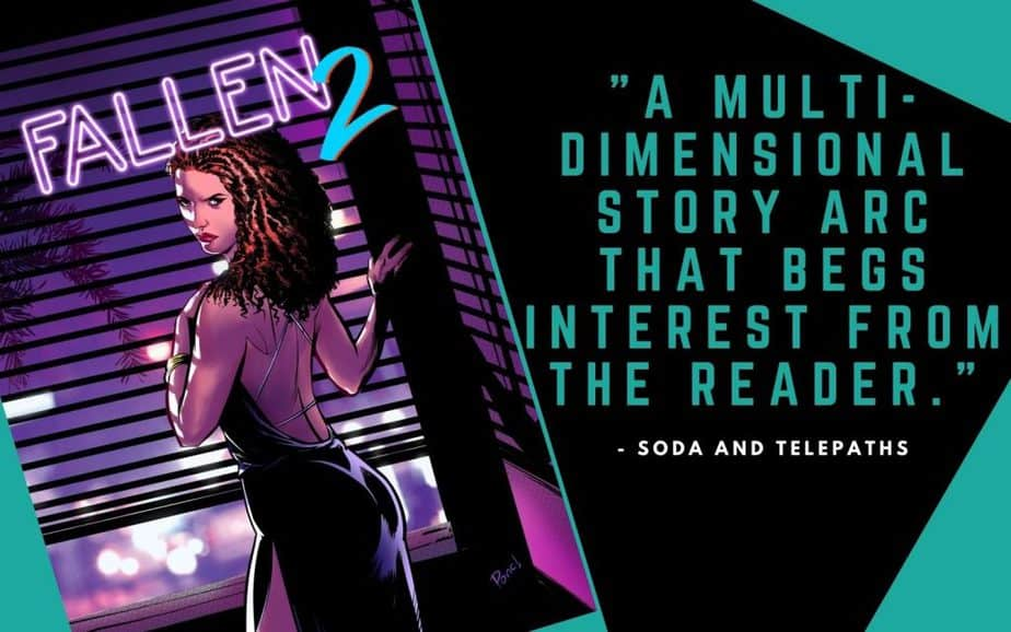 Fallen 2 Indie Comic Book about Detective Noir and Greek Gods