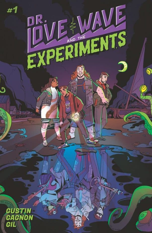 Dr Love Wave and the Experiments #1, cover courtesy of Kickstarter