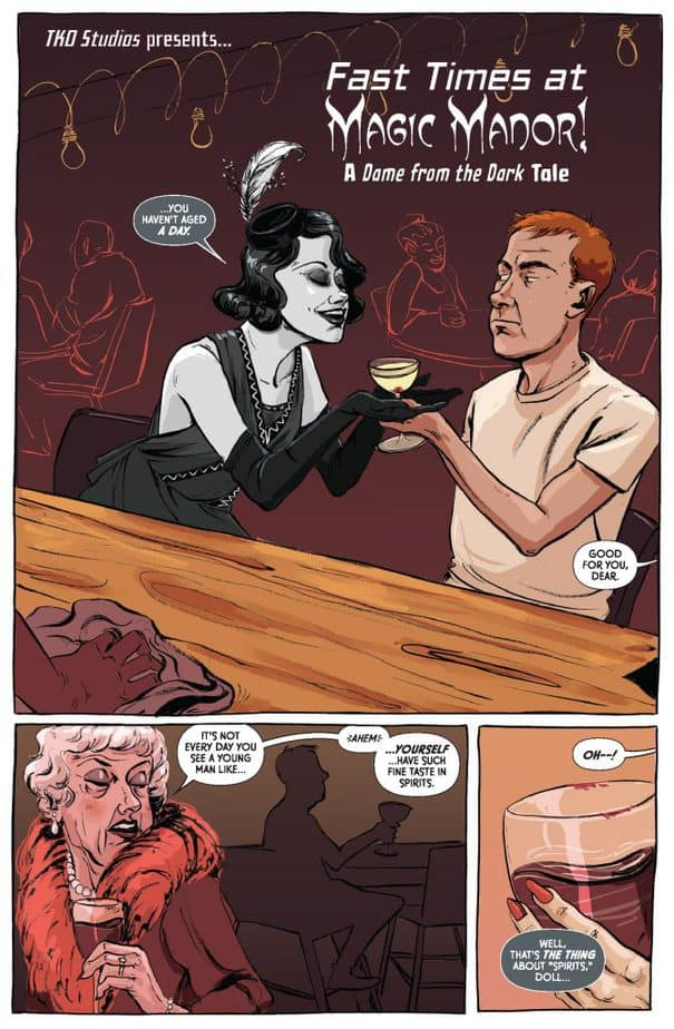 5 Page Preview: TKO Shorts' Dame from the Dark 1