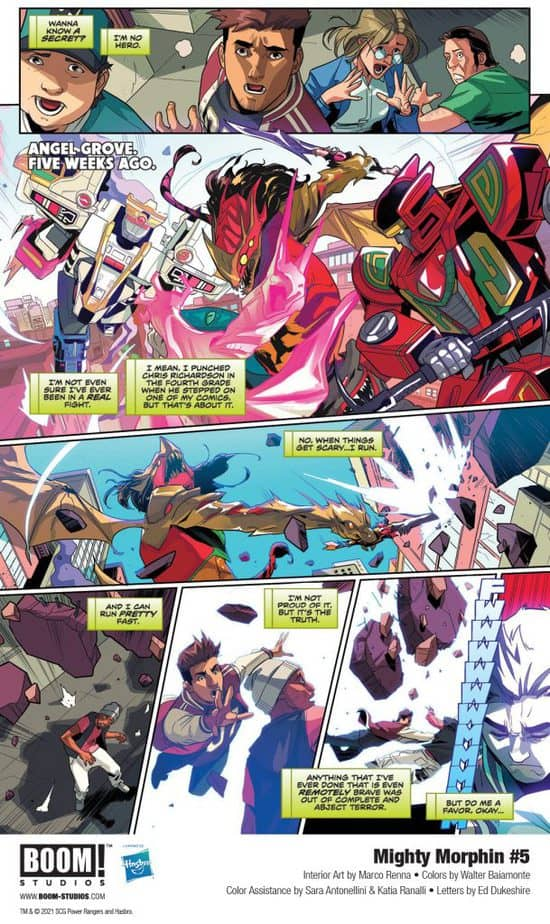 5 Page Preview: Secrets of the Green Ranger Finally Revealed in Mighty Morphin #5 1