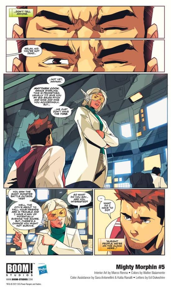 5 Page Preview: Secrets of the Green Ranger Finally Revealed in Mighty Morphin #5 2