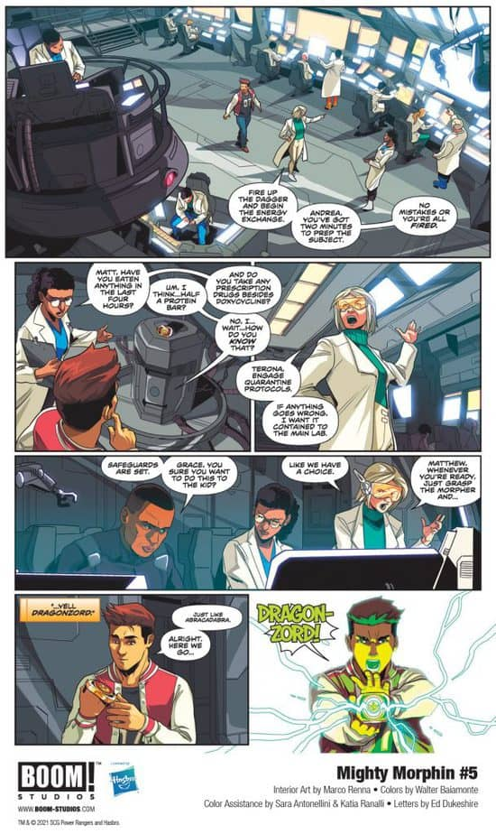5 Page Preview: Secrets of the Green Ranger Finally Revealed in Mighty Morphin #5 3