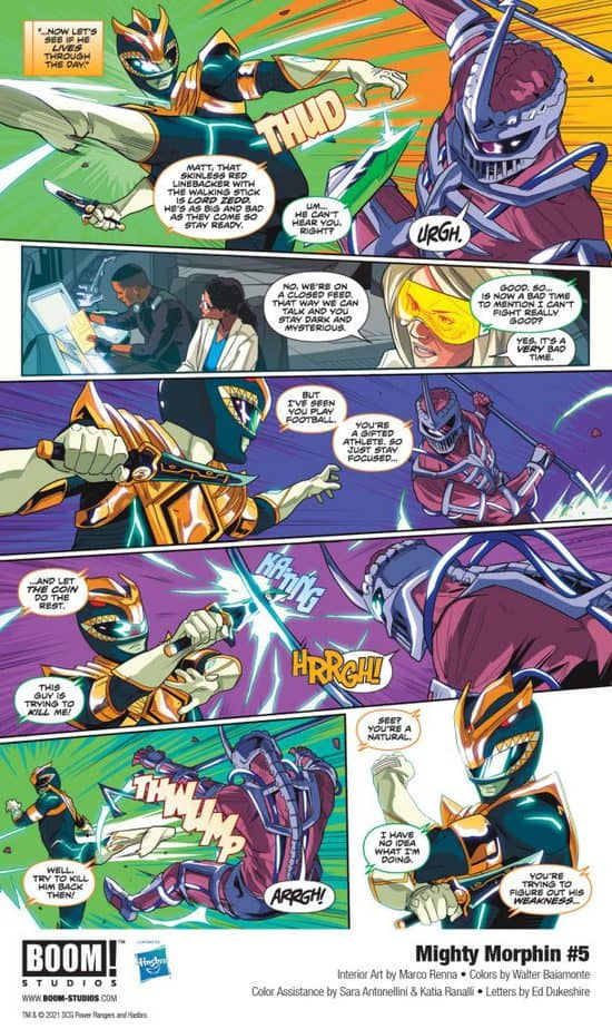 5 Page Preview: Secrets of the Green Ranger Finally Revealed in Mighty Morphin #5 5