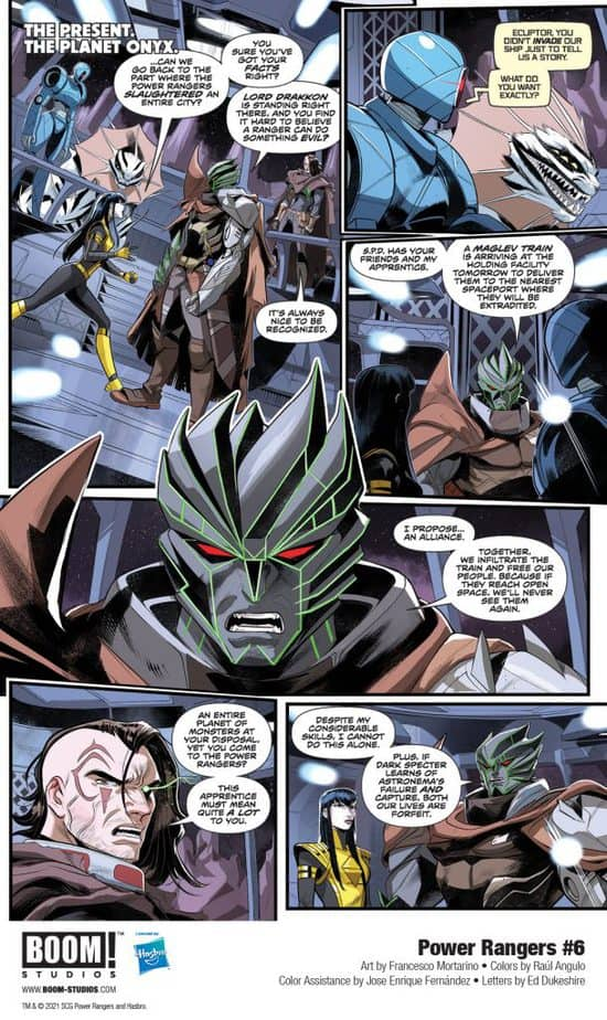 5 Page Preview: The Power Rangers Team Up with the Princess of Evil in Power Rangers #6 3