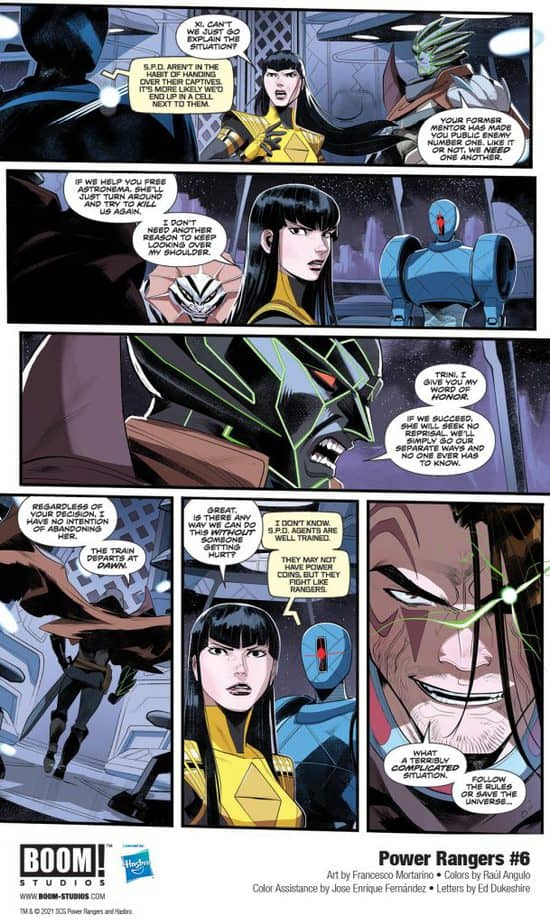 5 Page Preview: The Power Rangers Team Up with the Princess of Evil in Power Rangers #6 2