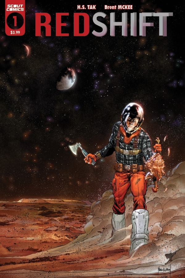 """FOR IMMEDIATE RELEASE: Scout Comics takes the tagline """"Lost in Space"""" to all new levels with REDSHIFT."""