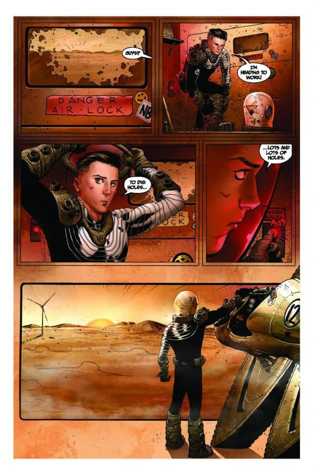PRESS RELEASE: Sci-Fi Survivalism ascends to new heights in REDSHIFT #1 3