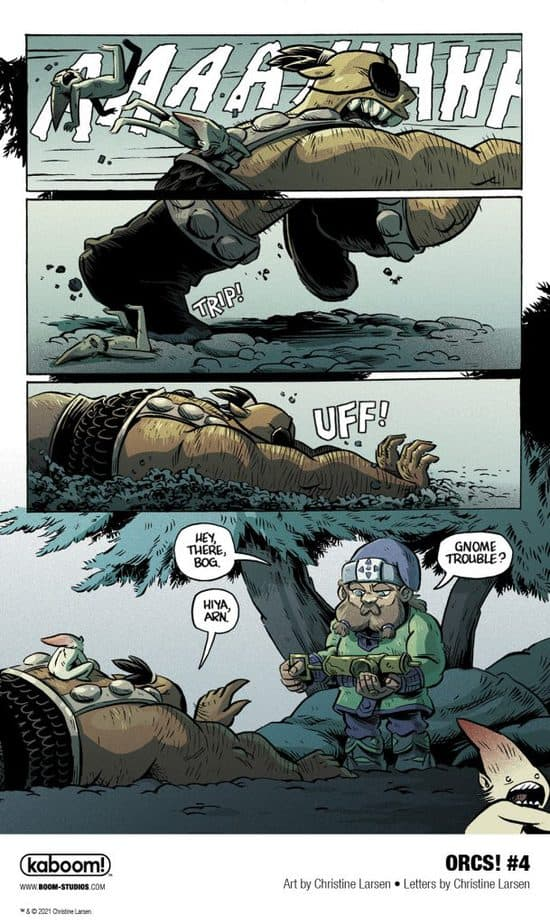 6 Page Preview: A Dangerous New Enemy in Christine Larsen's ORCS! #4 5