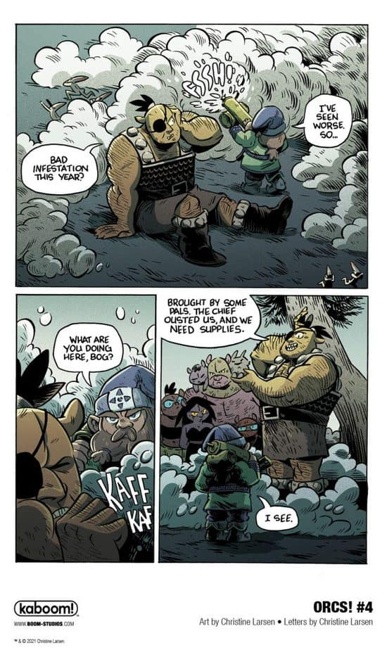 6 Page Preview: A Dangerous New Enemy in Christine Larsen's ORCS! #4 4