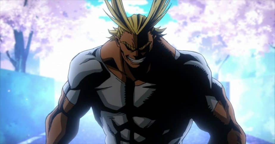 41 Blonde Anime Characters: All Might - My Hero Academia