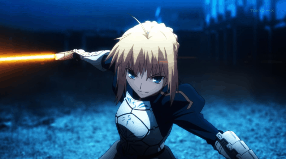 41 Blonde Anime Characters: Saber - Fate/Zero