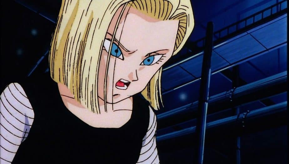 41 Blonde Anime Characters: Android 18 - Dragon Ball Z